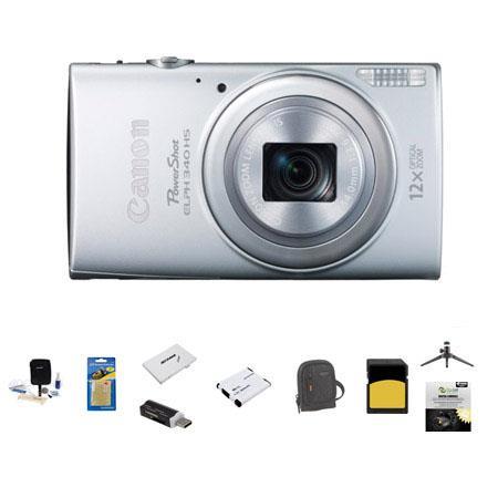 Canon PowerShot ELPH HS Digital Camera MP Silver Bundle GB SDHC Class Memory Card LowePro Ridge Case 77 - 508