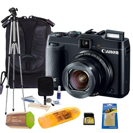 Canon PowerShot Compact Digital Camera BUNDLE GB Class SDHC Card Camera Case Tripod Spare Lithium Ba 40 - 646