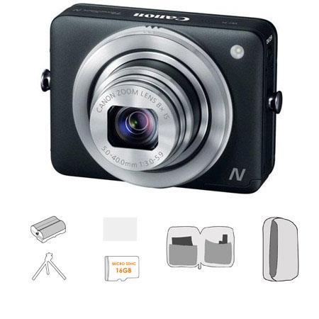 Canon PowerShot N Digital Camera Megapixel Bundle Lowepro Camera Pouch GB Micro SDHC Card Spare batt 213 - 713