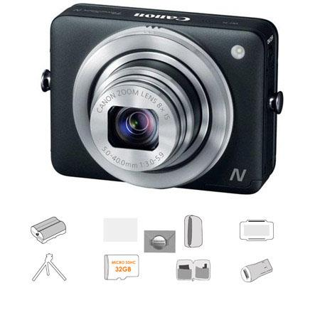 Canon PowerShot N Digital Camera Megapixel Bundle Lowepro Camera Pouch GB Micro SDHC Card Spare batt 63 - 90