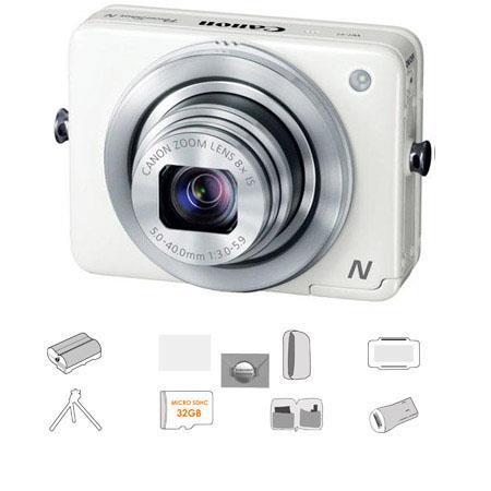 Canon PowerShot N Digital Camera Megapixel Bundle Lowepro Camera Pouch GB Micro SDHC Card Spare batt 162 - 565
