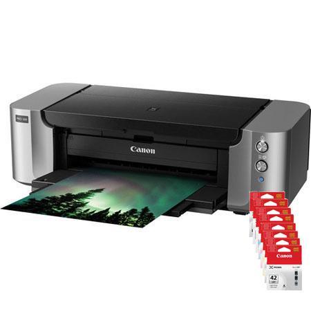 Canon PIXMA PRO Professional Photo Inkjet Printer Bundle Canon CLI Color Ink Value Pack and Canon SG 230 - 151