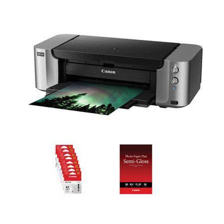 Canon PIXMA PRO Professional Photo Inkjet Printer Bundle Canon CLI Color Ink Value Pack CanonPhoto P 92 - 104