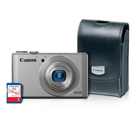 Canon PowerShot S Digital Camera Kit Silver GB SD Card Canon Leather Case PSC  144 - 288