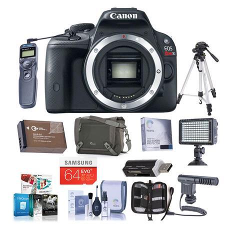 Canon EOS Rebel SL Digital SLR Camera Body Bundle GB SDHC Memory Card Camera Carrying Case Newleaf Y 127 - 329