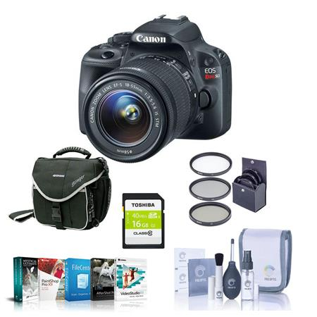Canon EOS Rebel SL Digital SLR Camera EF S f IS Lens Bundle GB SDHC Memory Card Camera Carrying Case 136 - 621