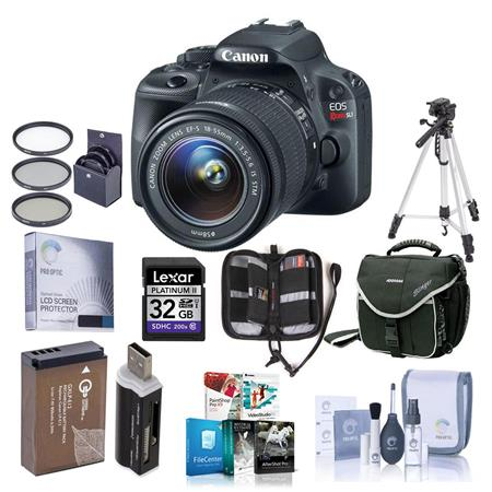 Canon EOS Rebel SL Digital SLR Camera EF S f IS Lens Bundle GB SDHC Memory Card Camera Carrying Case 197 - 319