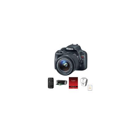 Canon EOS Rebel SL DSLR Camera Lens Kit EF S f IS STM Lens and EF F III Lens Bundle GB SDHC Card Cam 179 - 790
