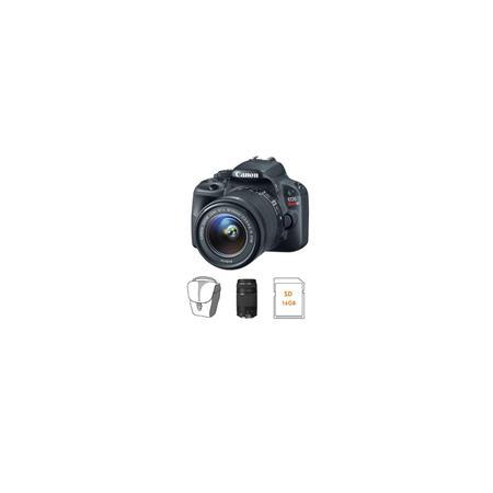 Canon EOS Rebel SL DSLR Camera IS Lens Lens Bundle Lens GB SDHC Memory Card Camera Case 59 - 339