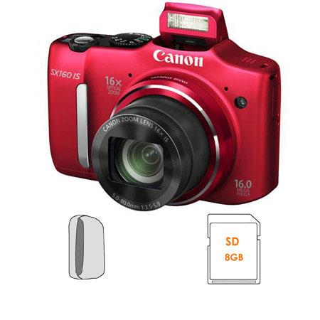Canon PowerShot SX IS Digital Camera Bundle Camera Pouch and GB SDHC Card 110 - 461