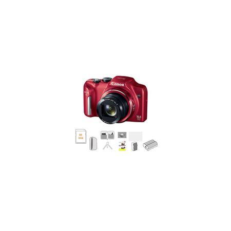 Canon PowerShot SX IS Digital Camera RED MPOptical Zoom Bundle GB Ultra SDHC Memory Card Lowepro Dub 0 - 684