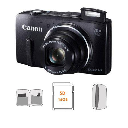 Canon PowerShot SX HS Digital Camera BUNDLE GB SDHC Card Camera Pouch Lens Cleaning Kit 55 - 115