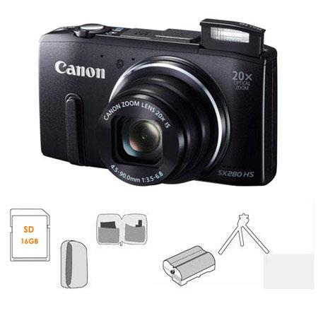 Canon PowerShot SX HS Digital Camera BUNDLE GB SDHC Card Camera Pouch Spare Li ion Battery Tripod Wa 125 - 309