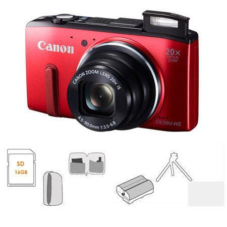 Canon PowerShot SX HS Digital Camera BUNDLE GB SDHC Card Camera Pouch Spare Li ion Battery Tripod Wa 56 - 462