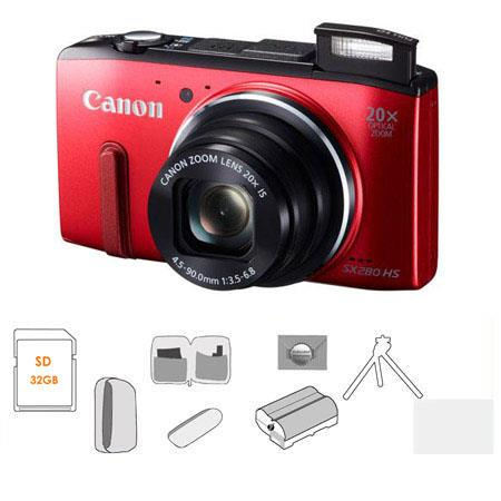 Canon PowerShot SX HS Digital Camera BUNDLE GB SDHC Card Camera Pouch Mack Year Extended Warranty Sp 33 - 222