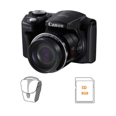 Canon PowerShot SX IS Digital Camera MPOptical Zoom Bundle Lowepro Rezo TLZ Holster Style Bag GB SDH 205 - 447