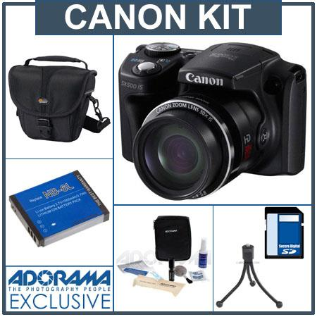 Canon PowerShot SX IS Digital Camera MPOptical Zoom Bundle Lowepro Rezo TLZ Holster Style Bag GB SDH 62 - 443