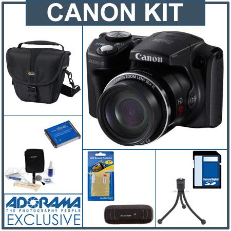 Canon PowerShot SX IS Digital Camera Bundle Lowepro Rezo TLZ Holster Style Bag GB SDHC Memory Card T 82 - 630