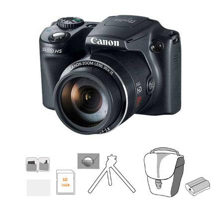 Canon PowerShot SX HS Digital Camera MPOptical Zoom Bundle GB SDHC Memory Card Lowepro Rezo TLZ Hols 61 - 124