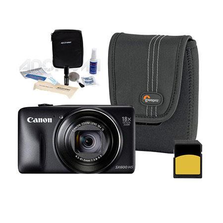 Canon PowerShot SX HS Digital Camera MP BLACK Bundle LowePro Case GB SDHC Memory Card Digital Cleani 297 - 264