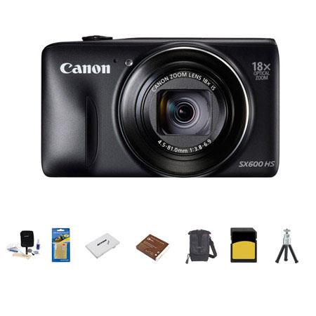Canon PowerShot SX HS Digital Camera MP BLACK Bundle LowePro Rezo Case GB Class SDHC Memory Card Spa 142 - 237