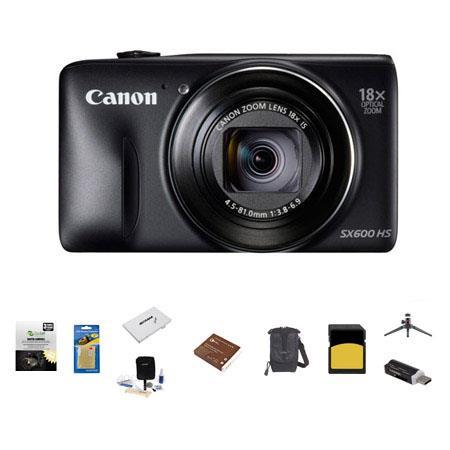Canon PowerShot SX HS Digital Camera MP BLACK Bundle LowePro Rezo Case GB Class SDHC Memory Card Spa 408 - 91