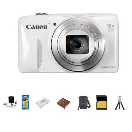 Canon PowerShot SX HS Digital Camera MP WHITE Bundle LowePro Rezo Case GB Class SDHC Memory Card Spa 142 - 237
