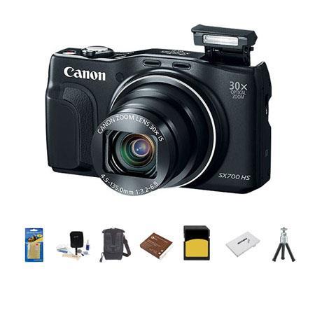 Canon PowerShot SX HS Digital Camera MPOptical Zoom WiFi p Full HD Video Smart AUTO Bundle LowePro R 194 - 522