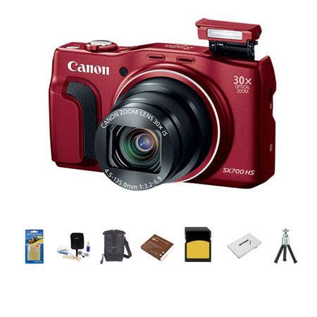 Canon PowerShot SX HS Digital Camera MPOptical Zoom WiFi p Full HD Video RED Bundle LowePro Rezo Cas 194 - 522