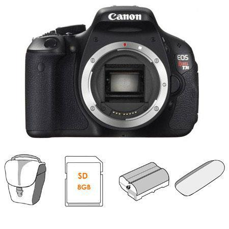 Canon EOS Rebel Ti Digital SLR Camera Body Kit GB SD Memory Card Canon Camera Bag Spare LP E Lithium 43 - 580