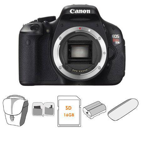Canon EOS Rebel Ti Digital SLR Camera Body Kit GB SD Memory Card LowePro Camera Bag Spare LP E Lithi 148 - 634