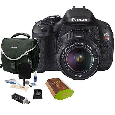 Canon EOS Rebel Ti DSLR Camera Lens Kit Canon EF S IS Lens GB SD Memory Card LowePro Camera Bag Spar 216 - 433