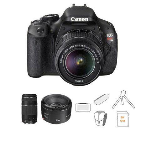 Canon EOS Rebel Ti SLR Camera Lens Kit EF S f IS Lens EF F III Lens and EF f Lens Bundle Camera Bag  82 - 648