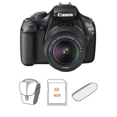 Canon EOS Rebel Digital SLR Camera Lens Kit EF S f IS Lens GB SD Memory Card Canon Camera Bag USB SD 326 - 178