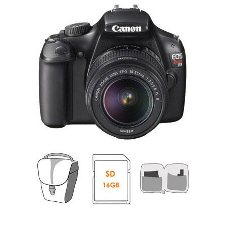 Canon EOS Rebel Digital SLR Camera EF S f IS Lens Bundle GB SD Memory Card Camera Bag Lens Cleaning  342 - 360