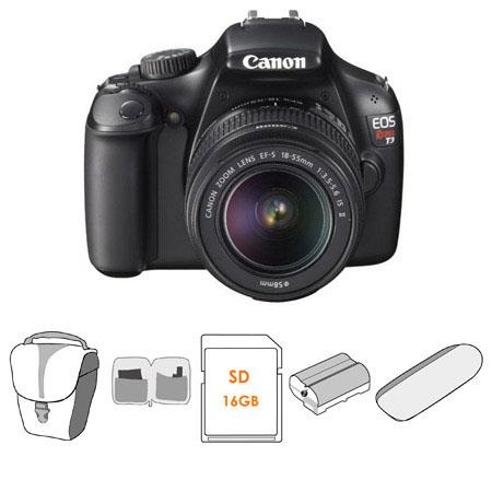Canon EOS Rebel Digital SLR Camera Lens Kit EF S f IS Lens GB SD Memory Card Spare Battery Canon Del 59 - 790