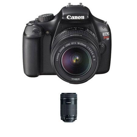 Canon EOS Rebel Digital SLR Camera Lens Kit Canon EF S IS Lens and Canon EF S f IS STM Lens 55 - 641