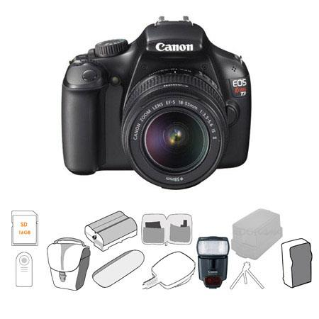 Canon EOS Rebel DSLR Camera EF S Lens BUNDLE GB SDHC Card Camera Case Spare Battery Charger USB Mult 89 - 111