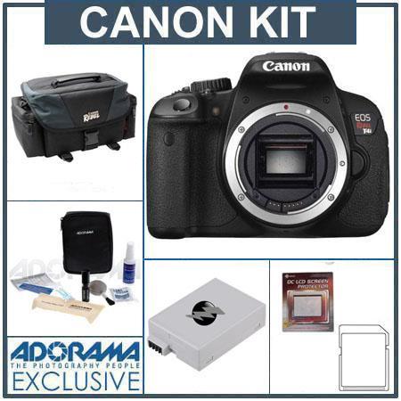 Canon EOS Rebel Ti Digital SLR Camera Body only Bundle GB SDHC Memory Card Canon DG Deluxe Gadget Ba 192 - 589