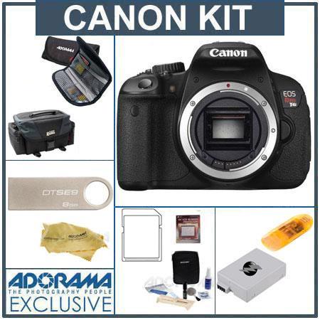 Canon EOS Rebel Ti Digital SLR Camera Body only Bundle GB SDHC Memory Card Canon DG Deluxe Gadget Ba 446 - 187