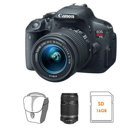 Canon EOS Rebel Ti DSLR Camera IS STM Lens Bundle IS Lens GB SDHC Memory Card Camera Bag 58 - 209