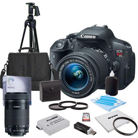 Canon EOS Rebel Ti DSLR Camera IS STM Lens Bundle IS Lens GB SDHC Memory Card Camera Bag Spare Batte 24 - 131