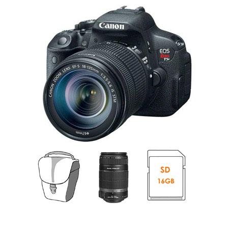 Canon EOS Rebel Ti DSLR Camera IS STM Lens Bundle IS Lens GB SDHC Memory Card Camera Bag 492 - 297