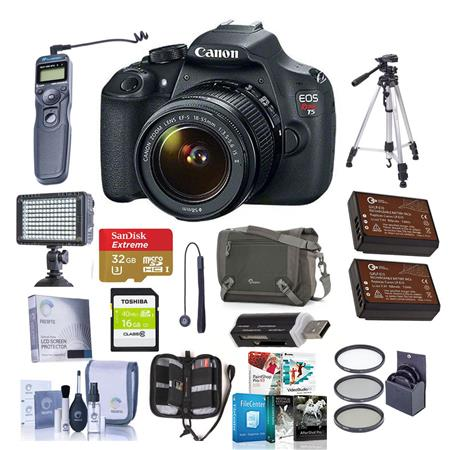 Canon EOS Rebel DSLR Camera Kit EF S IS Lens Bundle GB Class SDHC Card Pro Optic Filter Kit Slinger  169 - 156
