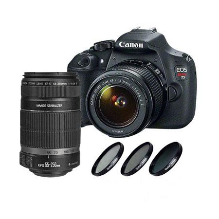 Canon EOS Rebel DSLR Camera EF S f IS Lens Bundle EF S f IS Lens and Filter Kit UV CPL ND 91 - 89
