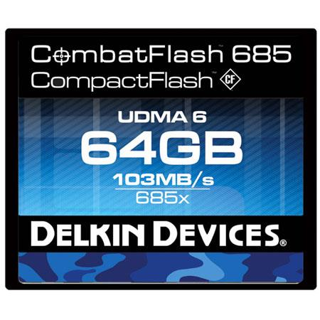 Delkin GB CombatFlash ProUDMA Memory Card MBs Read and MBs Write Speed 92 - 714