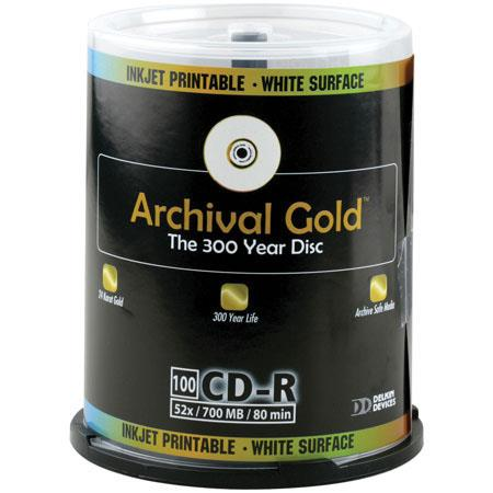 Delkin CD R Archival Gold Scratch Armor mb Minute Pack on CakeboSpindle 116 - 285