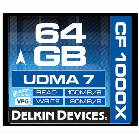 Delkin GB Compact FlashUDMA Memory Card MBs Read MBs Write Made the USA 106 - 379