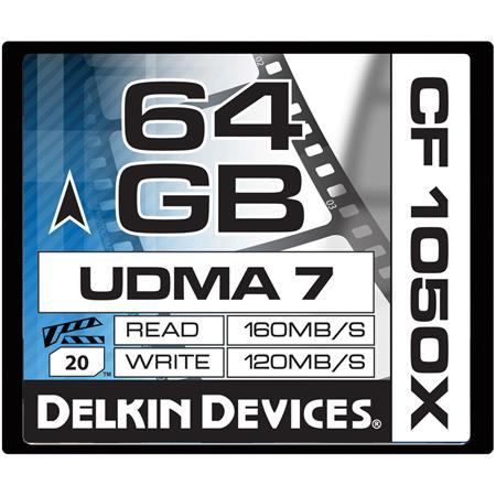 Delkin GB CFX UDMA Cinema Memory Card MBs Read MBs Write Made USA 106 - 379