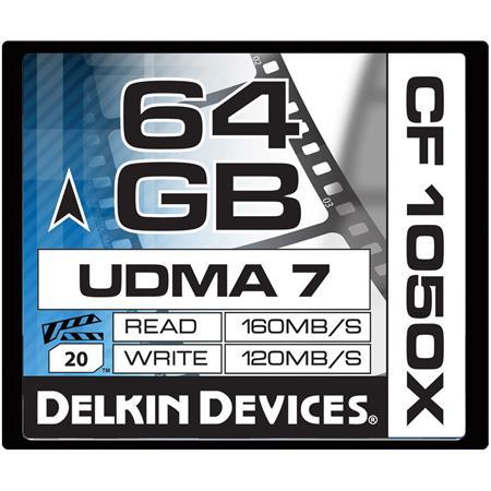 Delkin GB CFX UDMA Cinema Memory Card MBs Read MBs Write Made USA 89 - 558